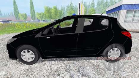 Peugeot 308 [unmarked police] for Farming Simulator 2015