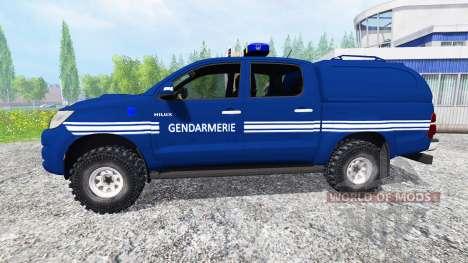 Toyota Hilux [gendarmerie] for Farming Simulator 2015