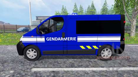 Renault Trafic Gendarmerie for Farming Simulator 2015