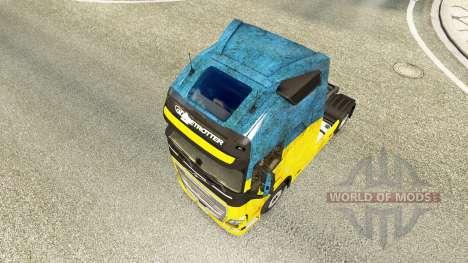 Ukraine skin for Volvo truck for Euro Truck Simulator 2