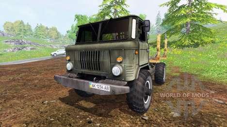 GAZ-66 [timber] for Farming Simulator 2015