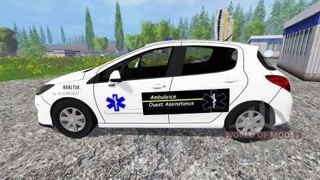 Peugeot 308 Ambulance for Farming Simulator 2015