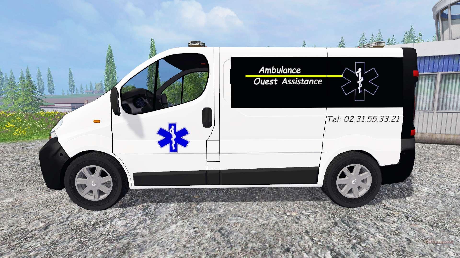 renault trafic ambulance for farming simulator 2015. Black Bedroom Furniture Sets. Home Design Ideas