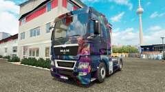 The Fractal Flame skin for MAN truck for Euro Truck Simulator 2