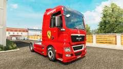 Skin Ferrari on tractor MAN for Euro Truck Simulator 2