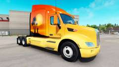 Skin Sun on the tractor Peterbilt for American Truck Simulator