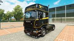 Skin Golden Lines on the tractor Scania for Euro Truck Simulator 2