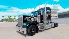 The skin on the Skull truck Kenworth W900 for American Truck Simulator
