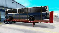 A collection of new trailers with cargo for American Truck Simulator
