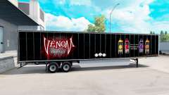 Skin Venom on the trailer for American Truck Simulator