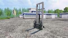 Mounted hydraulic lift