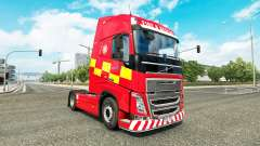 Skin Fire & Rescue at Volvo trucks for Euro Truck Simulator 2