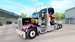 Skin Queen on the truck Kenworth W900 for American Truck Simulator