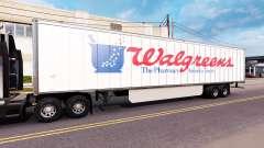 Skin WalGreens on the trailer for American Truck Simulator