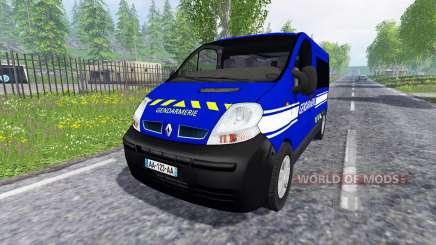 Renault Trafic Gendarmerie for Farming Simulator 2015