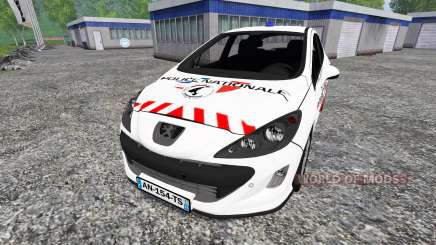 Peugeot 308 [police nationale] for Farming Simulator 2015