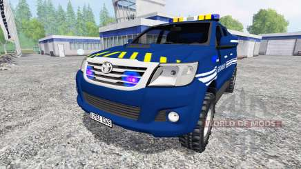 Toyota Hilux [gendarmerie] for Farming Simulator 2015