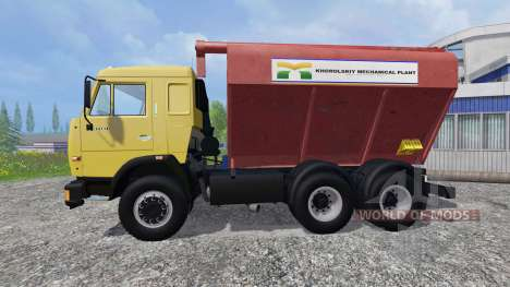 KamAZ-54115 Uploader and seeders trailer for Farming Simulator 2015