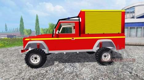 Land Rover Defender 110 Pickup sapeurs-pompiers for Farming Simulator 2015