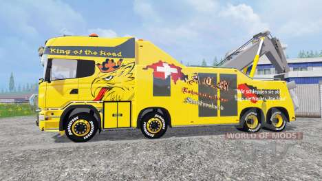 Scania R500 [tow truck] for Farming Simulator 2015