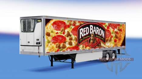 Red Baron skin on the reefer trailer for American Truck Simulator