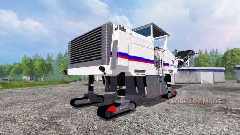 Crawler self-propelled road milling machine Wirt for Farming Simulator 2015