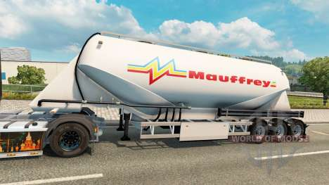 A collection of skins on cement semi-trailer for Euro Truck Simulator 2