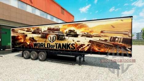 Skin World of Tanks on semi-trailers for Euro Truck Simulator 2