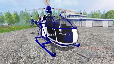 Sud-Aviation Alouette II Police for Farming Simulator 2015