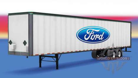 Skin Ford on the trailer for American Truck Simulator