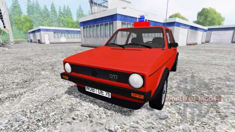 Volkswagen Golf I GTI [feuerwehr] for Farming Simulator 2015