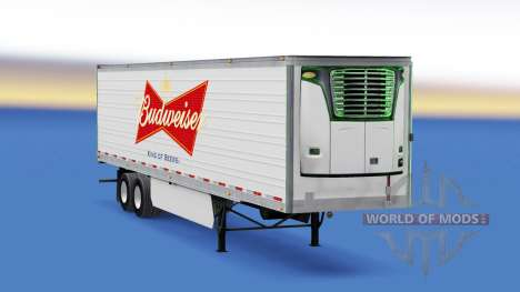 Skin on Budweiser reefer semi-trailer for American Truck Simulator
