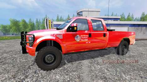 Ford F-350 American Fire Chief for Farming Simulator 2015