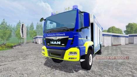 MAN TGM Technisches Hilfswerk for Farming Simulator 2015
