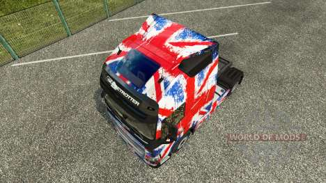 The England Copa 2014 skin for Volvo truck for Euro Truck Simulator 2