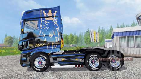 Scania R700 [blue black] for Farming Simulator 2015