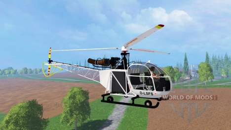Sud-Aviation Alouette II v2.0 for Farming Simulator 2015