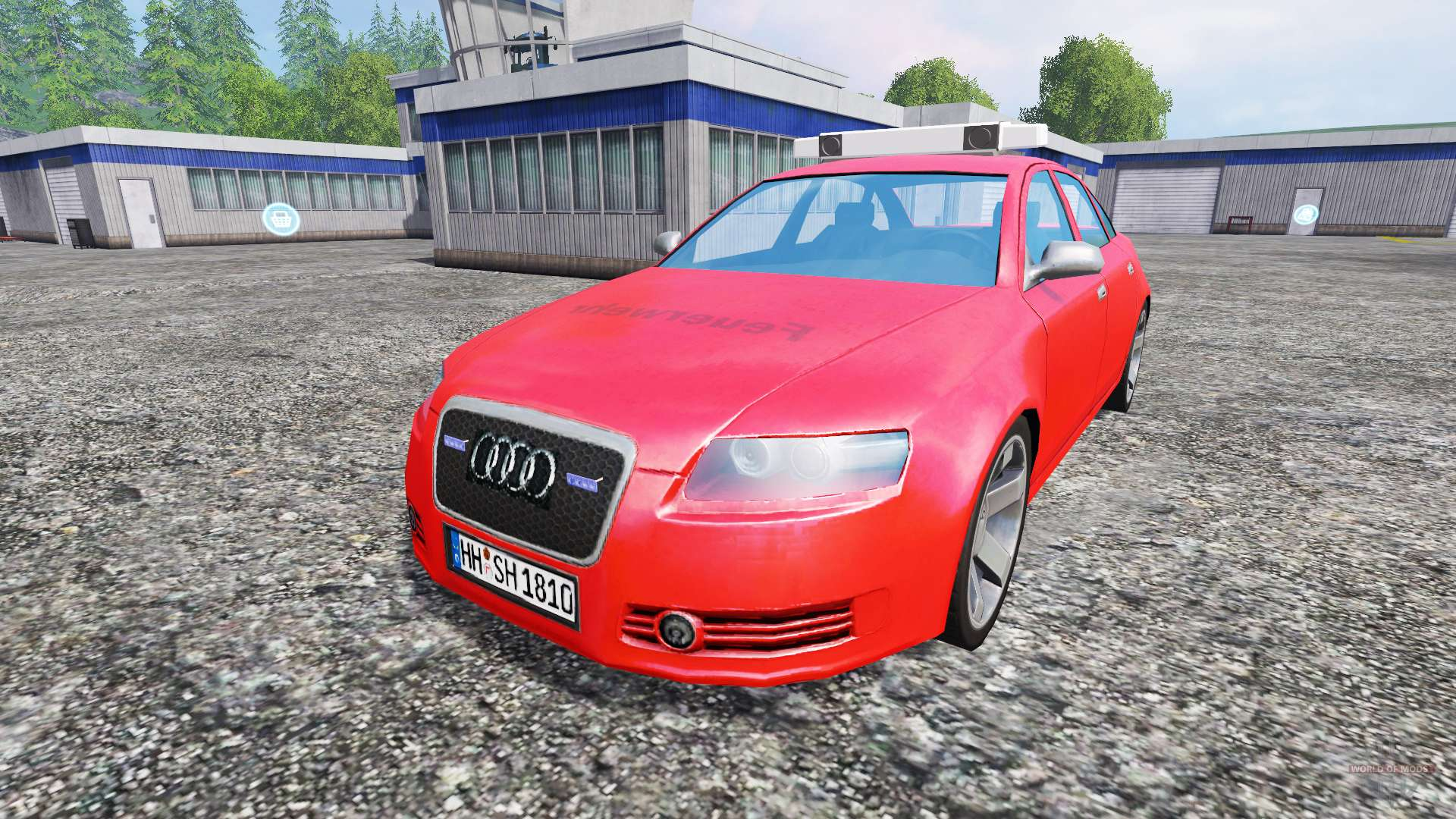 audi a6 c6 feuerwehr for farming simulator 2015. Black Bedroom Furniture Sets. Home Design Ideas