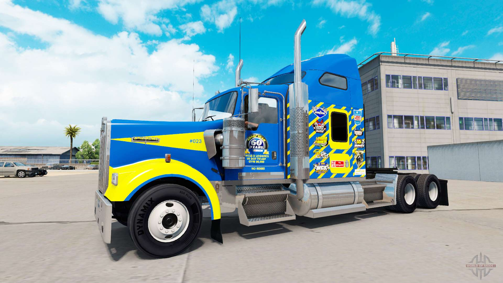 Skin Goodyear Racing truck Kenworth W900 for American Truck