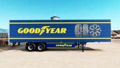 Skin Goodyear on refrigerated semi-trailer for American Truck Simulator