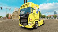 Homer Simpsons skin for Scania truck for Euro Truck Simulator 2