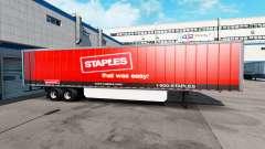 Skin Staples Inc. on the trailer for American Truck Simulator