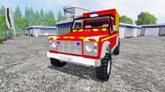 Land Rover Defender 110 Pickup sapeurs-pompiers for Farming Simulator 2015