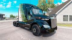 The Monster Energy Falken skin for the truck Peterbilt for American Truck Simulator