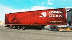 Curtain semi-trailer Kogel maxx for Euro Truck Simulator 2