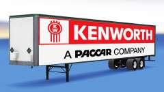 All-metal semi trailer Kenworth for American Truck Simulator