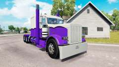 Skin Purple and White for the truck Peterbilt 389 for American Truck Simulator