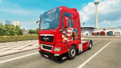 Skin Adler tractor MAN for Euro Truck Simulator 2