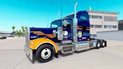 Skin Denver Broncos on the truck Kenworth W900 for American Truck Simulator
