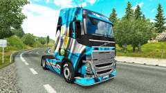 The Argentina Copa 2014 skin for Volvo truck for Euro Truck Simulator 2